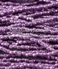 Czech 3 Cut Seed Bead, Pink Purple Metallic, 9/0 1 Hank
