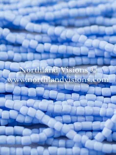 Czech 3 Cut Seed Bead, Opaque Powder Blue, 9/0 1 Hank