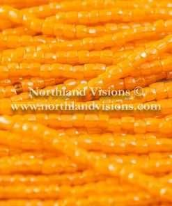 Czech 3 Cut Seed Bead, Opaque Light Orange, 9/0 1 Hank