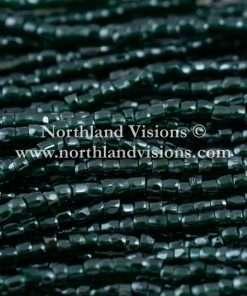 Czech 3 Cut Seed Bead, Transparent Deep Green Luster, 9/0 1 Hank