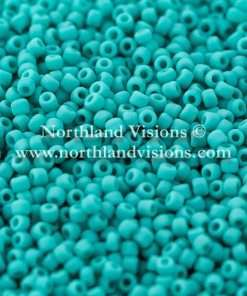 Japanese Seed Bead, Matsuno 11-F412D, Opaque Turquoise Green Matte, 11/0 30 grams