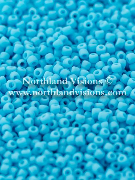 Japanese Seed Bead, Matsuno 11-F413, Opaque Turquoise Blue Matte, 11/0 30 grams