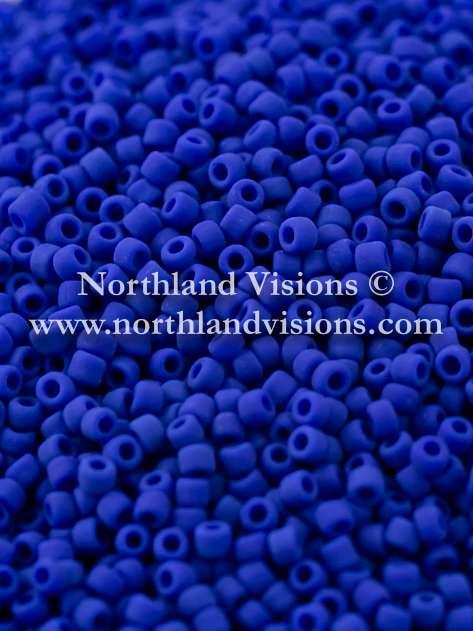 Japanese Seed Bead, Matsuno 11-F414, Opaque Dark Blue Matte, 11/0 30 grams