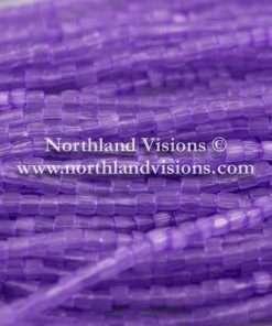 Czech 3 Cut Seed Bead, Transparent Satin Bright Purple, 9/0 1 Hank