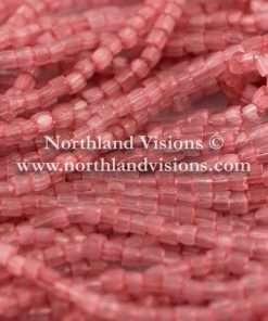 Czech 3 Cut Seed Bead, Transparent Satin Pink, 9/0 1 Hank