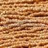 Czech 3 Cut Seed Bead, Metallic Medium Gold, 9/0 1 Hank