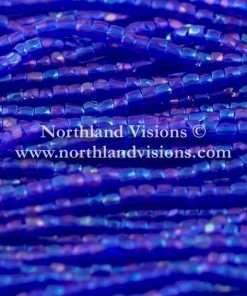 Czech 3 Cut Seed Bead, Transparent Light Cobalt Blue AB, 9/0 1 Hank