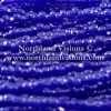 Czech 3 Cut Seed Bead, Transparent Medium Sapphire Blue Luster, 9/0 1 Hank