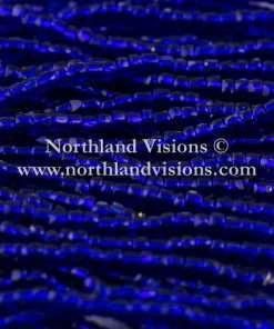 Czech 3 Cut Seed Bead, Transparent Dark Cobalt Silver Lined, 9/0 1 Hank