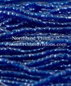 Czech 3 Cut Seed Bead, Transparent Capri Blue Luster, 9/0 1 Hank