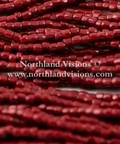 Czech 3 Cut Seed Bead, Opaque Brick Red, 9/0 1 Hank