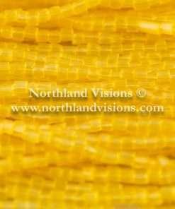 Czech 3 Cut Seed Bead, Transparent Satin Corn Yellow, 9/0 1 Hank