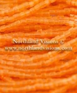 Czech 3 Cut Seed Bead, Transparent Satin Dark Orange, 9/0 1 Hank