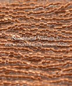 Czech 3 Cut Seed Bead, Crystal Color Lined Copper, 9/0 1 Hank