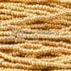 Czech Seed Bead, Metallic Light Gold, 11/0 1 Hank