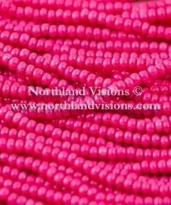 Czech Seed Bead, Opaque Intense Dark Pink, 11/0 1 Hank