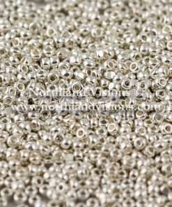Czech Charlotte Cut Seed Bead, Silver Plated, Loose, 11/0 13 grams