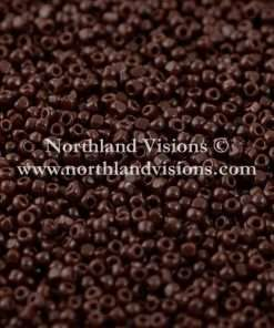 Japanese Seed Bead, TOHO CRS-046D, Opaque Burnt Brown, 15/0 3 Cut, 14 grams