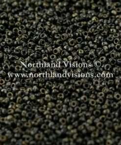 Japanese Seed Bead, Miyuki 4511, Opaque Picasso Black, 15/0 14 grams