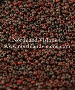 Japanese Seed Bead, Miyuki 4513, Opaque Picasso Red, 15/0 14 grams