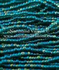 Czech Seed Bead, Transparent Emerald AB, 11/0, 1 Hank