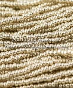Czech Seed Bead, Metallic Silver, 11/0, 1 Hank