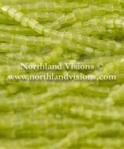 Czech 3 Cut Seed Bead, Transparent Satin Lime Green, 9/0, 1 Hank