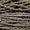 Czech Seed Bead, Opaque Grey, 11/0 1 Hank