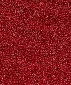 Japanese Seed Bead, Miyuki 11-1464SF/4904 F407A, Opaque Mahogany Red, 11/0 30 grams