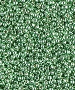 Japanese Seed Bead, Miyuki 11-D4214, Duracoat Galvanized Mint Green, 11/0 30 grams