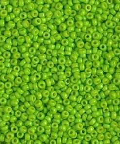 Japanese Seed Bead, Miyuki 11-D4471, Duracoat Opaque Kiwi, 11/0 30 grams