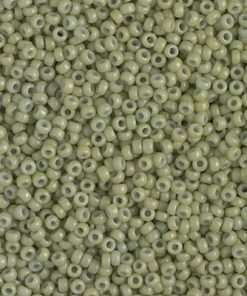 Japanese Seed Bead, Miyuki 11-D4473, Duracoat Opaque Fennel Green, 11/0 30 grams