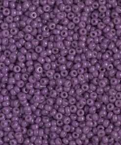 Japanese Seed Bead, Miyuki 11-D4490, Duracoat Opaque Anemone Purple, 11/0 30 grams