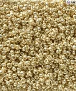 Japanese Seed Bead, Miyuki 11-D5101, Duracoat Galvanized Pale Gold, 11/0 30 grams