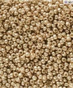 Japanese Seed Bead, Miyuki 11-D5104, Duracoat Galvanized Light Champagne, 11/0 30 grams