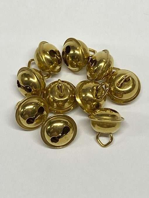 "Brass Hawk Bells, 3/8"" 10 Pieces"