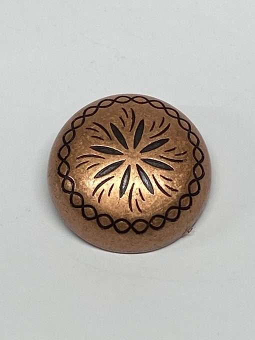 Antique Copper Dome Concho with Post, 1.25″