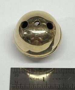 "Sleigh Bell, Heavy Duty, Solid Brass, 3 Hole, 1-1/2"""