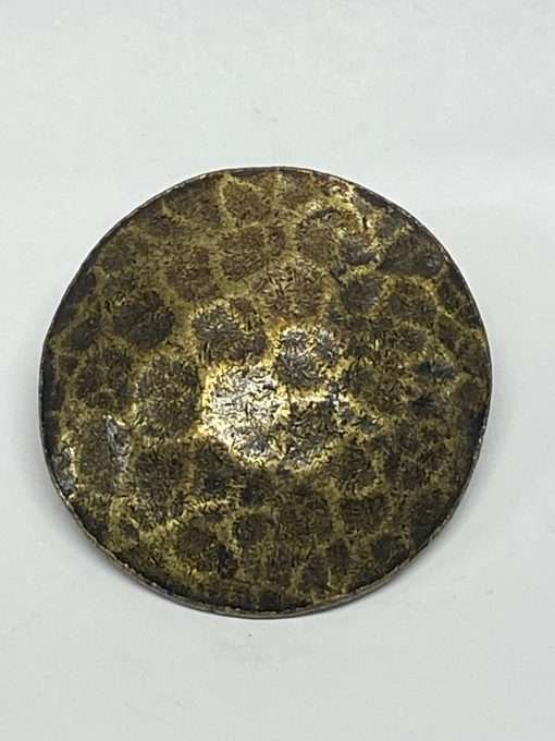 """Antique Brass Hammered Concho with Post, 2"""" 1 Piece"""