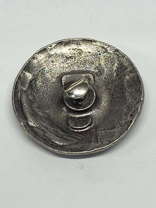 """Antique Nickel Hammered Concho with Post, 2"""" 1 Piece"""