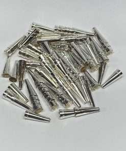 Silver Plated Cones, 3/4 inch, 100 Pieces