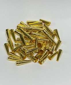 Gold Plated Cones, 3/4 inch, 100 Pieces