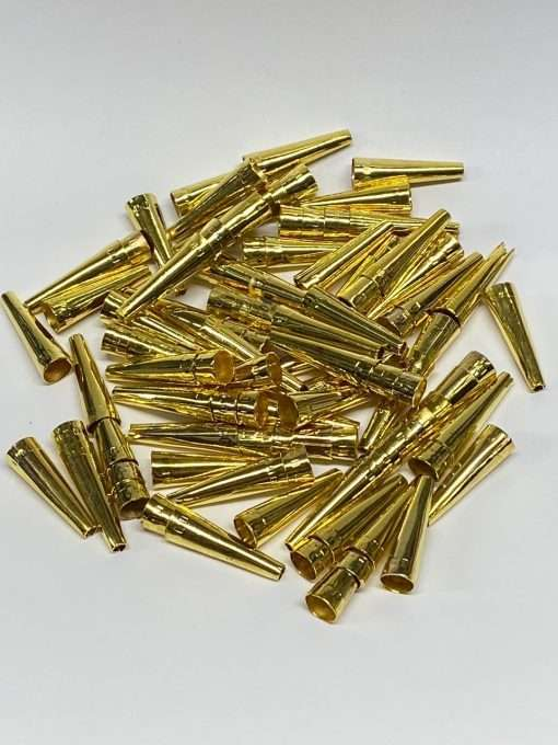 Gold Plated Cones, 1 inch, 100 Pieces