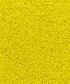 Japanese Seed Bead, Miyuki 11-404, Opaque Yellow, 11/0 30 grams