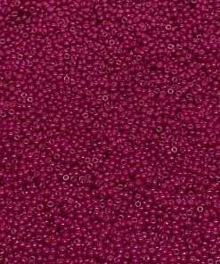 Japanese Seed Bead, Miyuki 11-408B, Opaque Fuchsia Luster, 11/0 30 grams