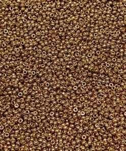 Japanese Seed Bead, Miyuki 11-4204/11-D4204, Duracoat Galvanized Champagne, 11/0 30 grams