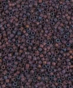 Miyuki Delica Cylinder/Seed Bead, DB0312/DB312, Opaque Metallic Dark Copper Matte AB, 11/0 7 grams