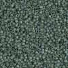Miyuki Delica Cylinder/Seed Bead, DB0373/DB373, Opaque Dark Sage Gold Luster Matte AB, 11/0 7 grams