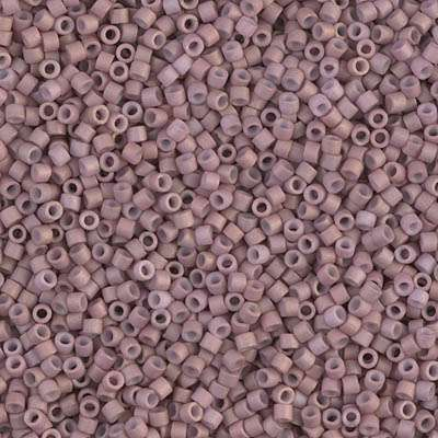 Miyuki Delica Cylinder/Seed Bead, DB0379/DB379, Opaque Old Rose Gold Luster Matte AB, 11/0 7 grams