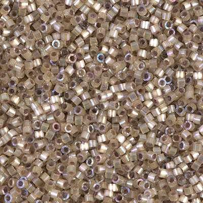 Miyuki Delica Cylinder/Seed Bead, DB0680/DB680, Silk Satin Leopard Skin AB, 11/0 7 grams